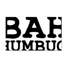 BAH HUMBUG Rectangle Car Magnet