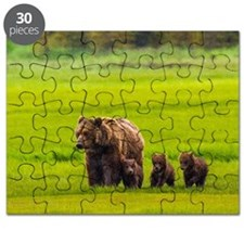 Mother bear and three cubs Puzzle