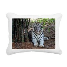 White Tiger Rectangular Canvas Pillow