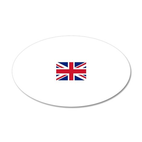 Union Jack 20x12 Oval Wall Decal