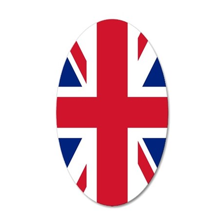 Union Jack 35x21 Oval Wall Decal