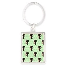 Honey Badger Portrait Keychain
