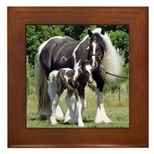 Champion Gypsy mare and colt Framed Tile