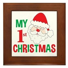 My 1st Christmas Santa Claus Framed Tile