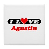 I Love Agustin Tile Coaster