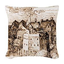 globetheatre3 Woven Throw Pillow