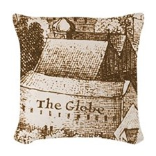 globetheatre2 Woven Throw Pillow