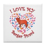 Love Berger Tile Coaster