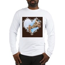Giraffe  Calf Snowflake Heart  Long Sleeve T-Shirt