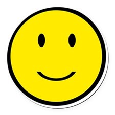 Happy Face Smiley Round Car Magnet