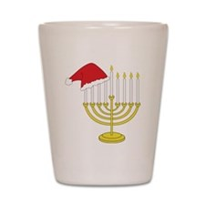 Hanukkah And Christmas Shot Glass
