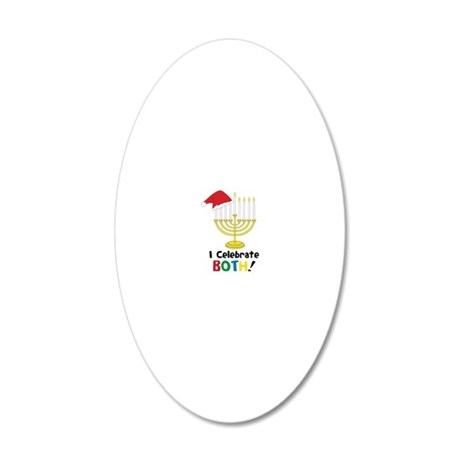 I Celebrate Both 20x12 Oval Wall Decal