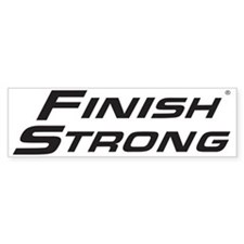 Finish Strong Classic Logo Bumper Sticker