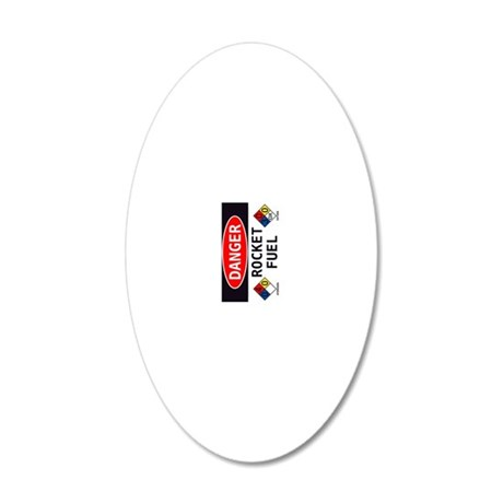 Rocket Fuel Vertical 20x12 Oval Wall Decal