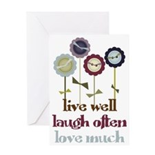 Live Well Greeting Card