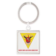 Marine Corps Air Station Cherry Po Square Keychain