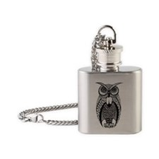 Hoot Owl Flask Necklace