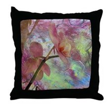 Hidden Orchid Throw Pillow