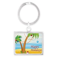 Palm Tree Holiday Landscape Keychain