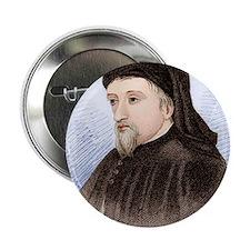 "Geoffrey Chaucer, English author 2.25"" Button"