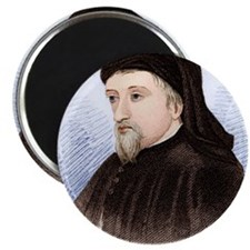 Geoffrey Chaucer, English author Magnet