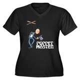 Puppet Master -  Women's Plus Size V-Neck Dark T-S
