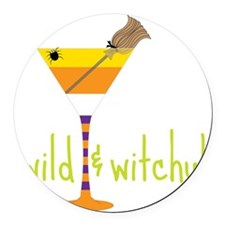 Wild And Witchy Round Car Magnet