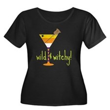 Wild And Women's Plus Size Dark Scoop Neck T-Shirt