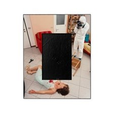 Photographing crime scene Picture Frame