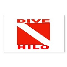 Dive Hilo, Hawaii Rectangle Decal