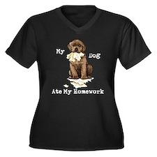 Lab Ate Homework Plus Size T-Shirt