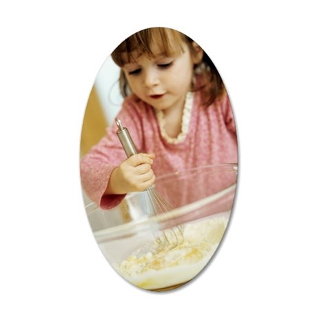 Making cakes 35x21 Oval Wall Decal