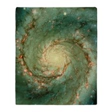 M51 whirlpool galaxy Throw Blanket
