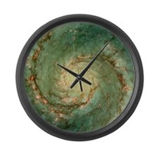 M51 whirlpool galaxy Large Wall Clock