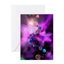 Multiple universes Greeting Card