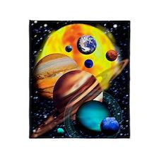 Solar system throw blankets solar system fleece blankets for Solar system fleece