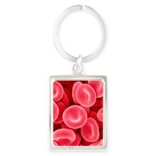 Red blood cells, SEM Portrait Keychain