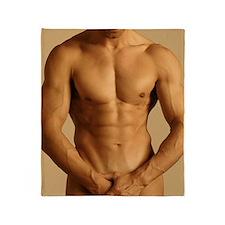 Nude man Throw Blanket