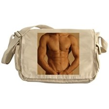 Nude man Messenger Bag