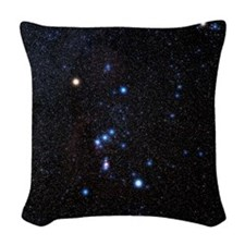 Orion constellation Woven Throw Pillow