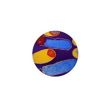 Clostridium botulinum bacteria with sp Mini Button