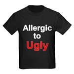 Allergic To Ugly Kids Dark T-Shirt
