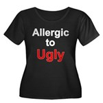Allergic To Ugly Women's Plus Size Scoop Neck Dark