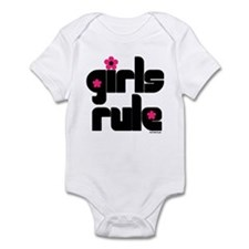 Girls Rule baby onesie