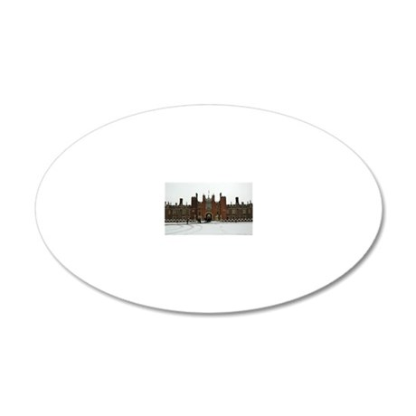 Hampton Court Palace in the  20x12 Oval Wall Decal