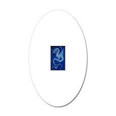 Mystical Blue Dragon 20x12 Oval Wall Decal