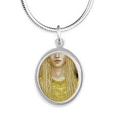 Athena iPad 2 case Silver Oval Necklace