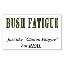 Bush Fatigue Rectangle Decal