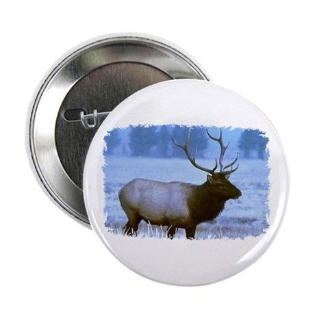 Bull Elk Button