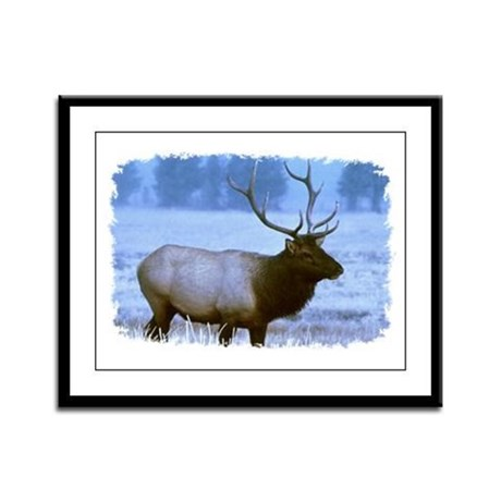Bull Elk Framed Panel Print
